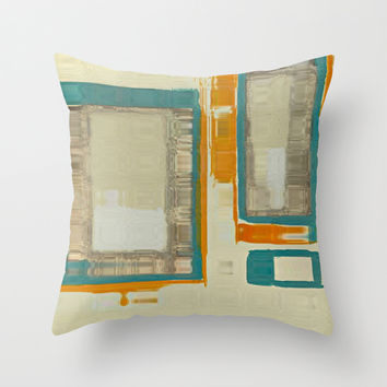 Mid Century Modern Abstract Throw Pillow by Corbin Henry