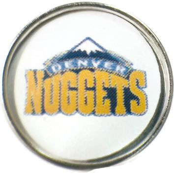 NBA Basketball Logo Denver Nuggets 18MM - 20MM Fashion Snap Jewelry Snap Charm New Item