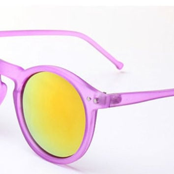 Womens Mirrored Sunglasses, Pink Retro Vintage Frames, Summer Festival Grunge