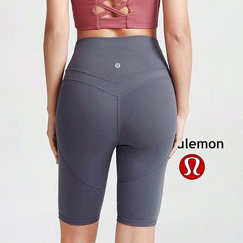Lululemon athletica women's outdoor running breathable yoga fitness tights grey