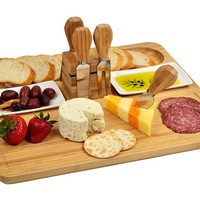 One Kings Lane - Open-Air Afternoons - Sherborne Bread & Cheese Serving Set