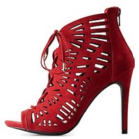 LASER CUT LACE-UP PUMPS