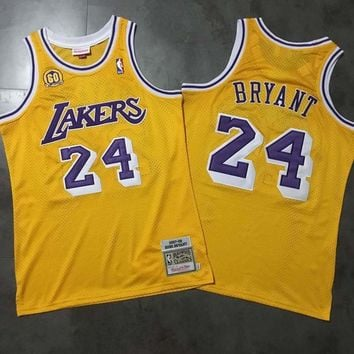 f4e17c2f939 Men s Los Angeles Lakers Kobe Bryant Mitchell   Ness Gold 2008 A