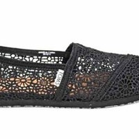 Toms Classics Womens Crochet Flat Espadrilles Shoes