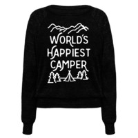 WORLD'S HAPPIEST CAMPER WHITE PRINT