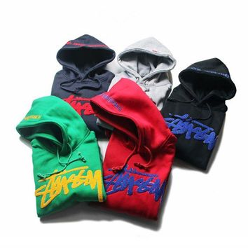ONETOW Stussy+Champion Long-Sleeved Hooded Embroidery Sweater