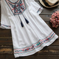 Cupshe Others Follow Me Embroidered Tunic Top