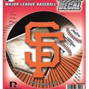 "San Francisco Giants ""SF LOGO"" 4"" Round Decal Bumper Sticker Emblem Baseball"