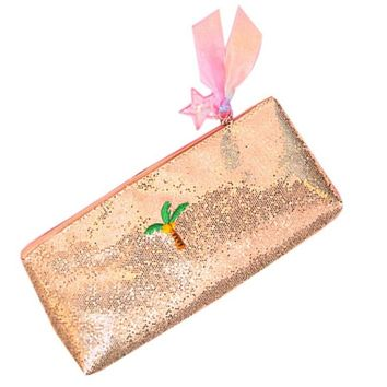 Sequins Embroidery Makeup Storage Bag PVC  Laser bag Travel Storage Case Cosmetic Organizer Pouch Travel Toiletry Bag