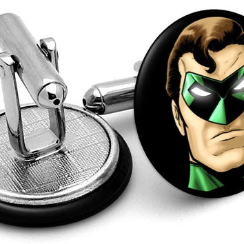 Green Lantern Portrait Cufflinks