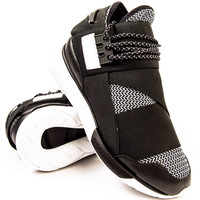 Y-3 Qasa High Black/White Woven Sneaker