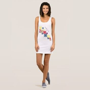 """Abstract Symbols"" Women's Jersey Tank Dress"