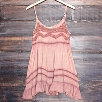 final sale - bohemian mini dress - dusty salmon