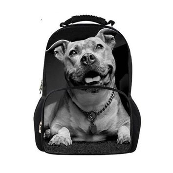 Cool Backpack school Noisydesigns Men Backpack Homme Fashion Backpacks My Cool Pit Bull Dog Printing Backpack for College Boys Cool Male Back Pack AT_52_3
