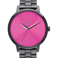 Nixon Kensington Gunmetal & Pink Sunray Analog Watch