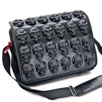Cult Appeal Goth Skulls Messenger Bag