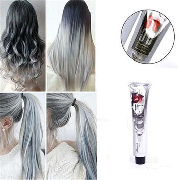 1 PC 100Ml Fashion Light Gray Color Natural Permanent Super Hair Dye Cream hair color permanent hair color