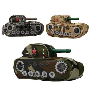 Tank Pencil Case With Combination Lock For Boys Double Zipper Canvas Large Cute large school Pencil Box Office supplies