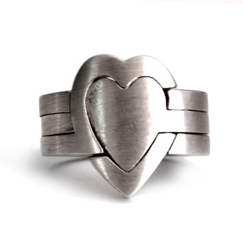Heart Puzzle Ring | 3 Pieces | Sterling silver |