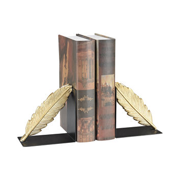 3129-1123/S2 Ferrier Bookends In Gold And Black