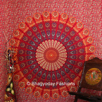 Mandala Tapestry Tapestries Indian Tapestry Hippie by ArazzoWelt