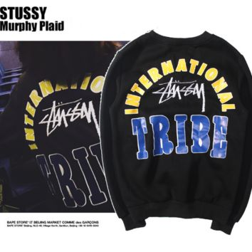 Limited Sale Stussy Print Long Sleeve Pullover Sweater Hoodies