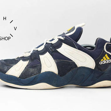 1997 Vintage Adidas Equipment Basketball sneakers / Bball Trainers / EQT Feet You Wear b-ball kicks hi tops / 90s Made in Vietnam