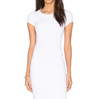 three dots Crystal Mini Dress in White