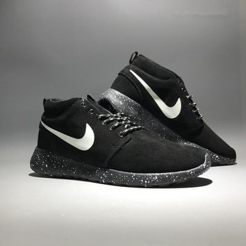 """""""Nike Roshe Run"""" Unisex Sport Casual Fashion Anti-fur High Help Boots Sneakers Couple Running Shoes"""