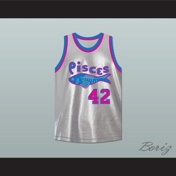 Reverend Grady Jackson 42 Pittsburgh Pisces Basketball Jersey The Fish That Saved Pittsburgh