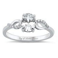 1.75CT Oval Cut Solitaire Russian Lab Diamond Engagement Ring