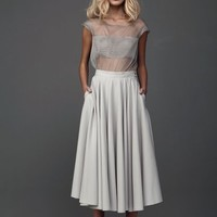 Sheer Silk Top With Skirt Set | Marchi | Shop | NOT JUST A LABEL