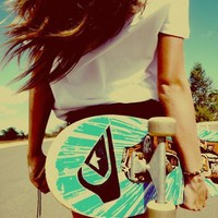 beach, girl, photography, skate - inspiring picture on Favim.com
