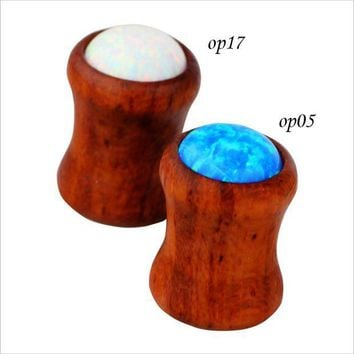 ac PEAPO2Q 1 Pair  8mm Fashion Jewelry Wood Ear Plugs and Tunnels   Tapers Expanders Body Piercing Jewelry for Women