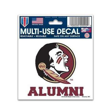 """Licensed Florida State Seminoles Official NCAA 3"""" x 5"""" Automotive Car Decal 3x5 Wincraft KO_19_1"""