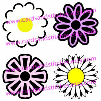 Spring Flowers Digital Cutting File (SVG, DXF, JPG)
