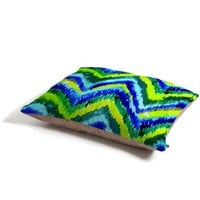CayenaBlanca Green Chevron Pet Bed