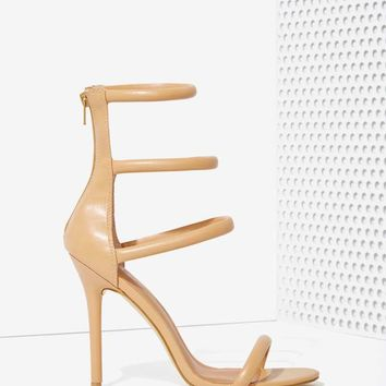 Nasty Gal On A Level Heel - Nude