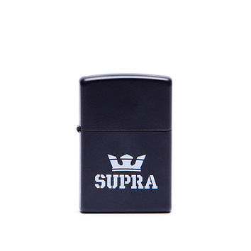 SUPRA ZIPPO LIGHTER BLACK / WHITE