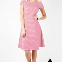 Beau Bande Dress - Coral