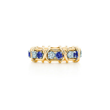 Tiffany & Co. - Tiffany & Co. Schlumberger® Sixteen Stone ring with diamonds and sapphires.