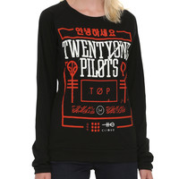 Twenty One Pilots Red Box Girls Pullover Top