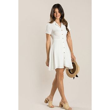 Maisie White Collared Mini Dress