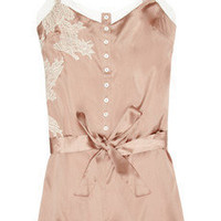 Elle Macpherson Intimates | Maria stretch silk-satin playsuit | NET-A-PORTER.COM