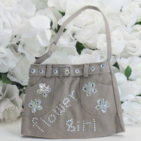 Flower Girl Gifts - Flower Girl Accessories - Birthday Gifts - Girls Birthday - Little Girls Gifts - Bags and Purses -Tan Purse