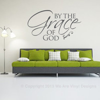 Spiritual Wall Decal. By the Grace of God - CODE 064