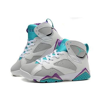 Air Jordan 7 Retro Aj7 White/blue Women Basketball Shoes Us5.5-8.5 - Beauty Ticks