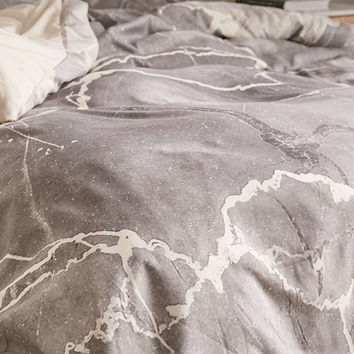 Emanuela Carratoni For DENY Grey Marble Duvet Cover - Urban Outfitters
