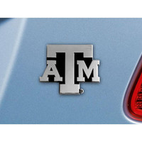 Texas A&M Aggies NCAA Chrome Car Emblem (2.3in x 3.7in)