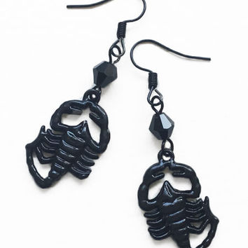 Black Scorpion Gothic Earrings
